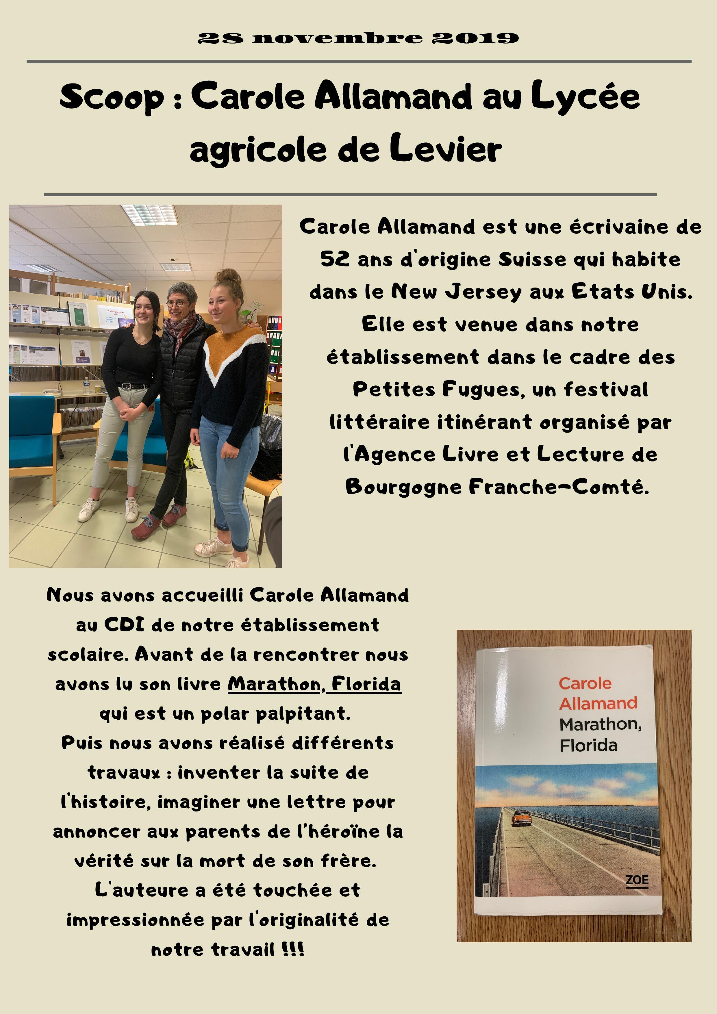 Festival des petites fugues : Carole Allamand au LATP LaSalle de Levier